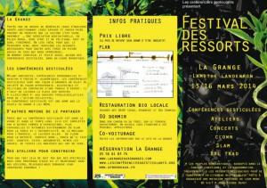 Le Festival des Ressorts, du 13 au 16 mars 2014
