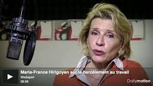 Marie-France Hirigoyen : «Des cas de plus en plus graves de harcèlement au travail»